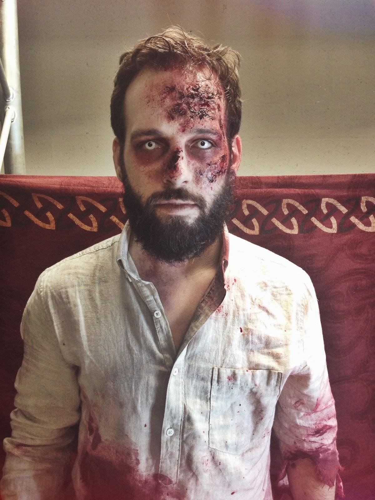 maquillage zombie avec barbe. Black Bedroom Furniture Sets. Home Design Ideas