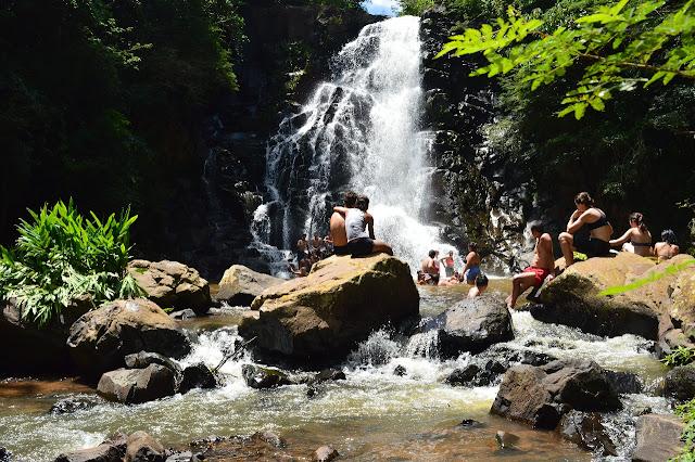 Cachoeira de Pavuna em Botucatu