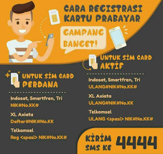 Cara Daftar Ulang Kartu Prabayar All Operator Indonesia