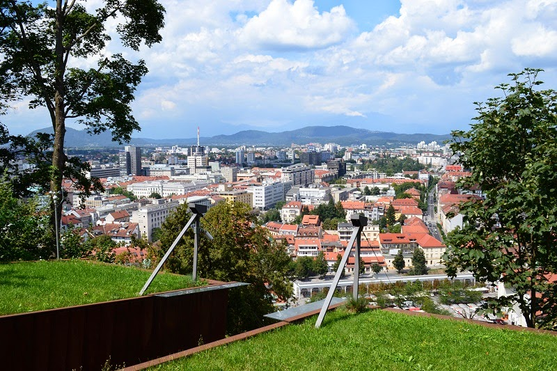 Lubjana, Slovénie, Europe, Voyage, chateau