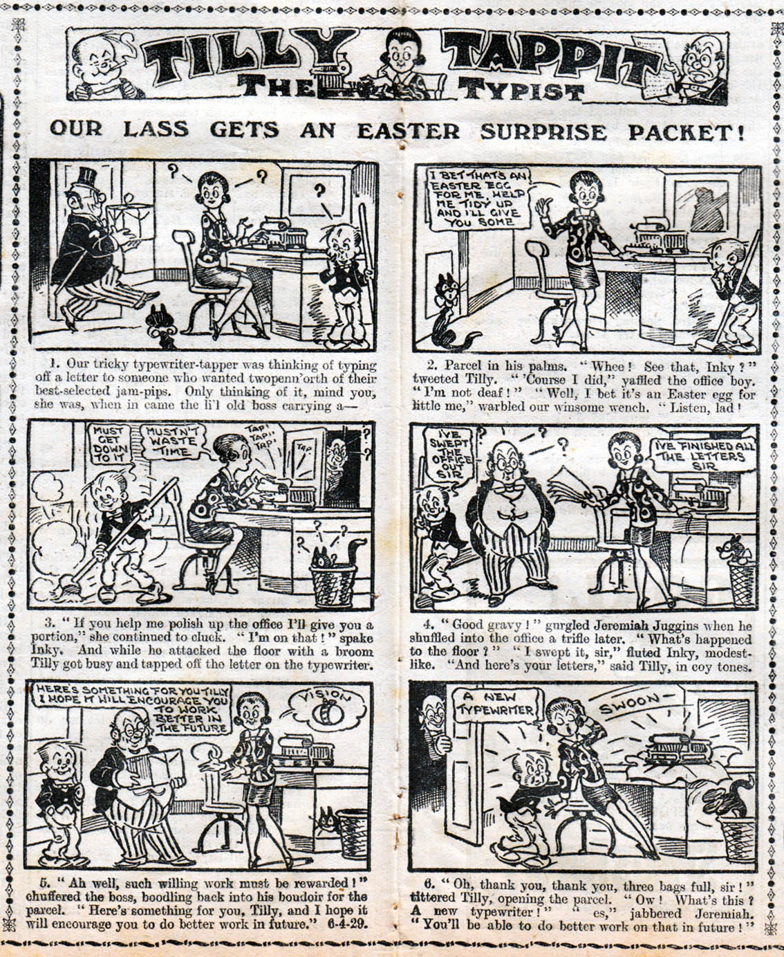 Here's Another Strip Using Stereotypes That Would Be Considered  Unacceptable Today (there Was A Lot Of This Stuff Around In Those Days,  And For Decades