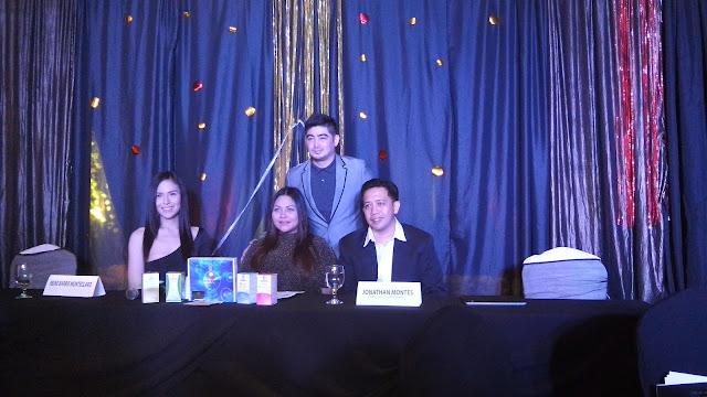 Endorser Reine Barbie Monteclaro; Regina Soqueno-Barrios, Tatiomax Pharma Corp. CEO; Danilo Barrios, Tatiomax Pharma Corp. President; and Jonathan Montes, Product Specialist.