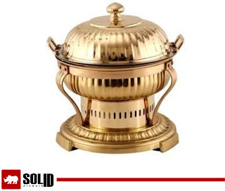 brass onion chaifing dish