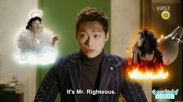 chief kim thinking the angel and ddevil talking about him being mr righteous at TQ Comapny