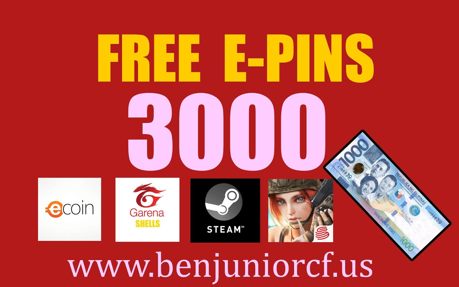 Free 3000 E-Pins and Money Ben Junior Monthly Giveaway