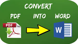 How to convert pdf file into a Ms Word file