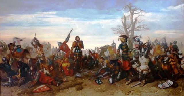 """Octave Penguilly L'Haridon (1811 - 1872) """"Le Combat des Trente"""" (1857)"""