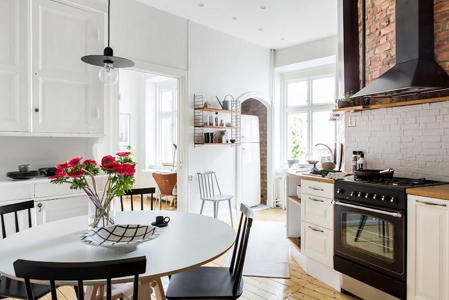 cocina, blanco, estilo nordico, cocina nordica, ladrillo visto, cara vista, decoracion nordica, alquimia deco