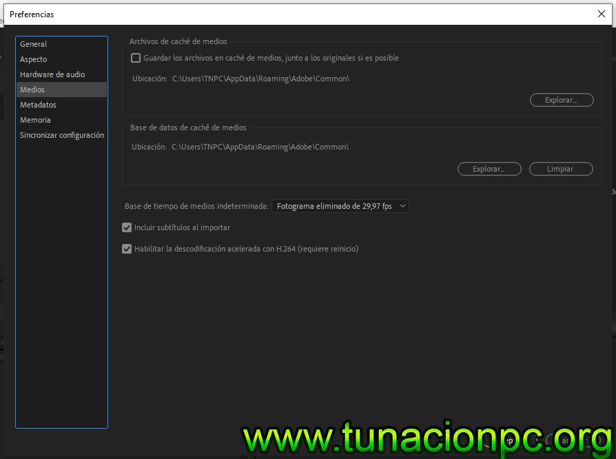 Adobe Media Encoder CC 2019 para windows y macos