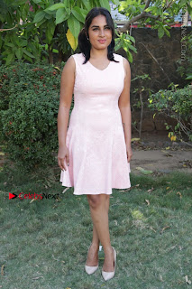 Actress Srushti Dange Stills in Short Dress at Mupparimanam Press Meet  0036.jpg