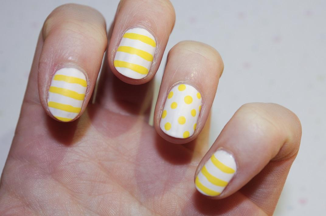 yellow matte nails - photo #28