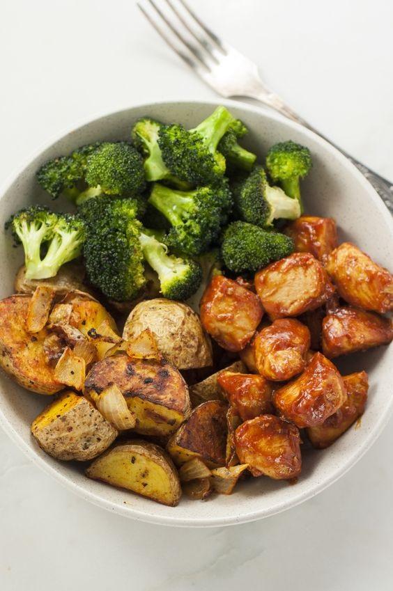 Skinny Chicken & Roasted Potato Bowl