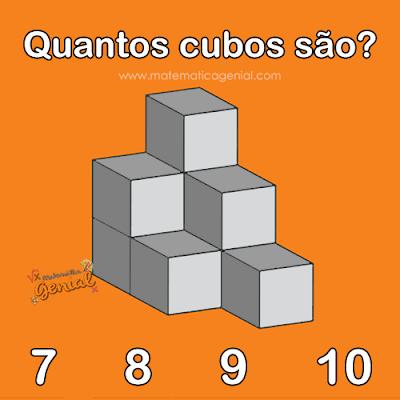 Raciocínio lógico: Quantos cubos são?
