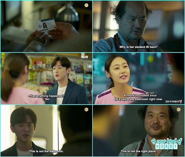 monk myung at professor hye sung office and found hyun ji id- Let's Fight Ghost - Episode 12 Review