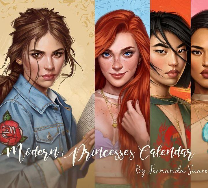 As princesas da Disney na era moderno