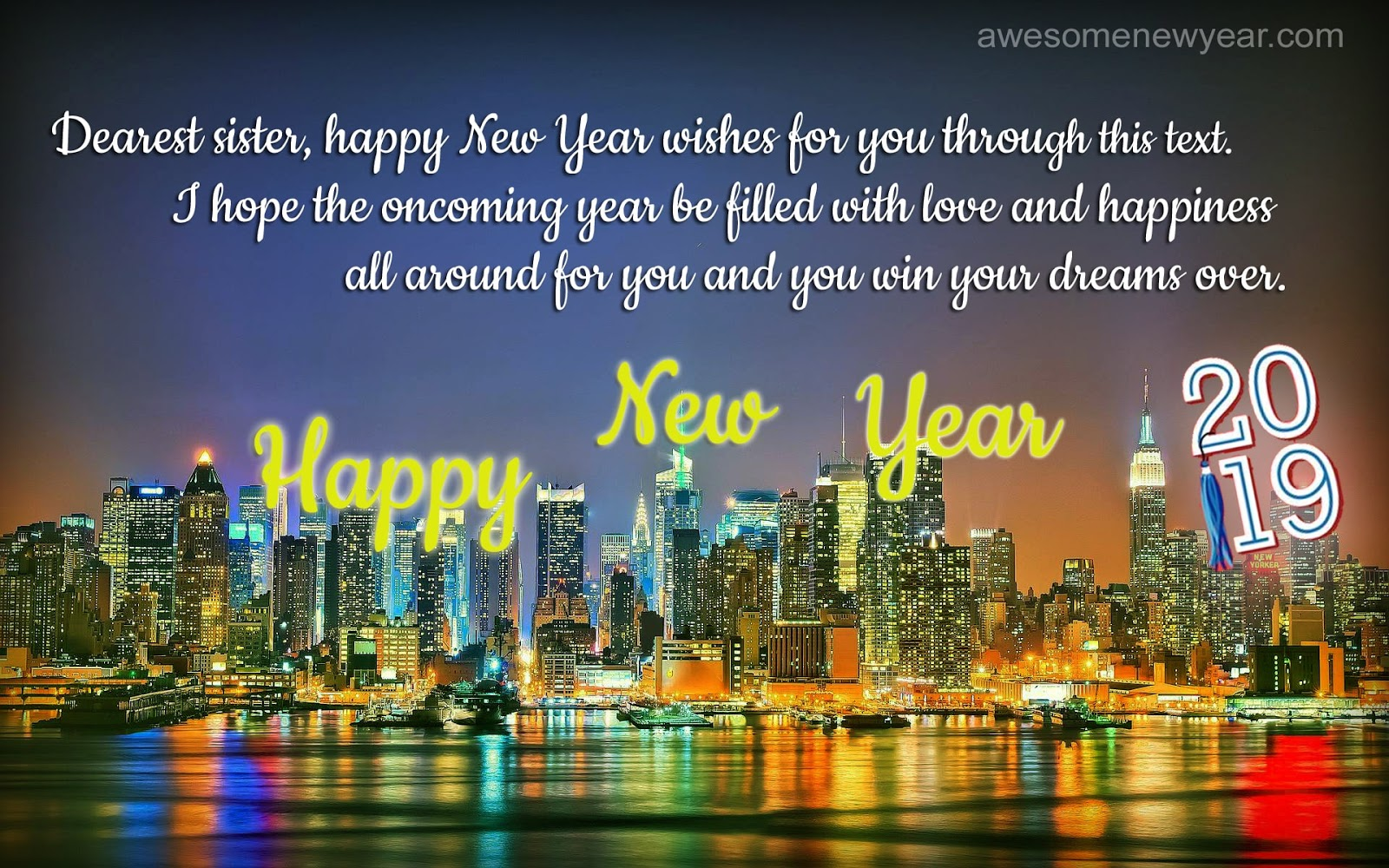sister happy new year 2019 quotes