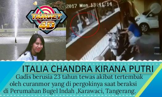 Pelaku curanmor menewaskan Italia Chandra Kirana Putri