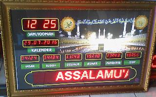 Jam Digital Masjid Runing Text Tulungagung
