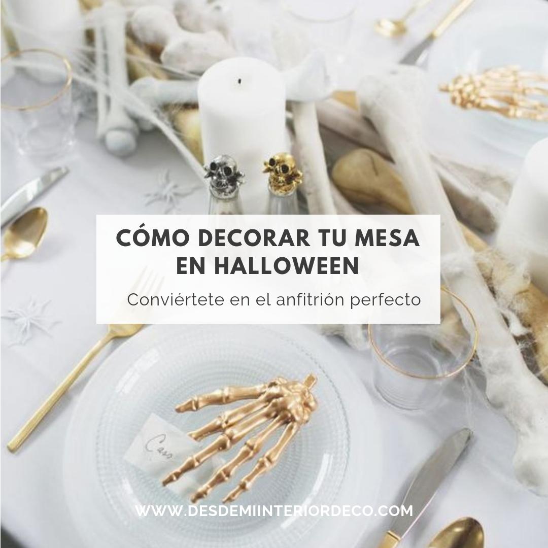 cómo decorar mesa halloween y ser anfitrión perfecto