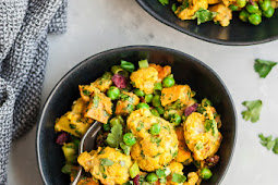 Curry Roasted Cauliflower Sweet Potato Salad
