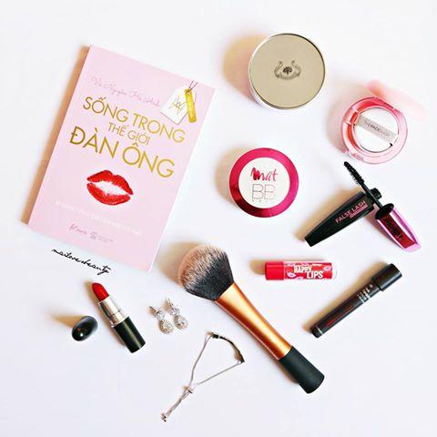 Review Sản phẩm Makeup Giá Bình Dân Dùng Trong Mùa Hè, make up, kem nền, the face shop, tfs, cushion, son đỏ, son lì, son mac