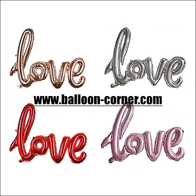 Balon Foil LOVE Letter Latin Mini