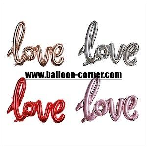 Balon Foil LOVE Letter Latin Mini