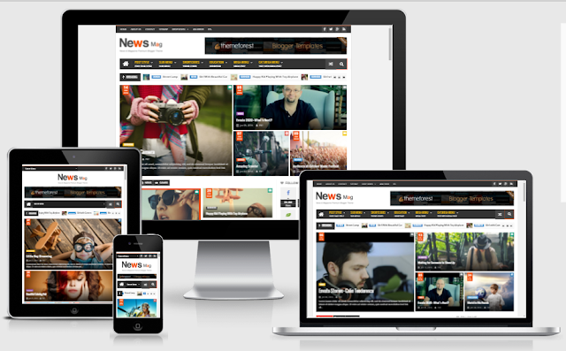 News Mag - Responsive Magazine Blogger Templates