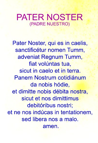 PATER NOSTER LATIN DOWNLOAD