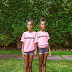 Diddy's twins D'Lila Star and Jessie James looked adorable as they advertised their father's T-shirt