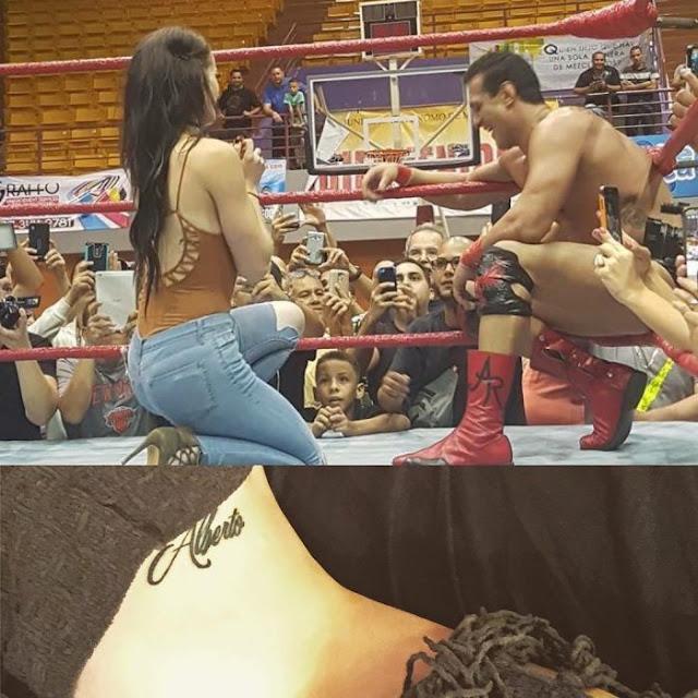 Paige subió al Ring para pedirle matrimonio a Alberto del Río