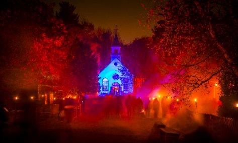 village hanté Drummondville québécois d'antan halloween