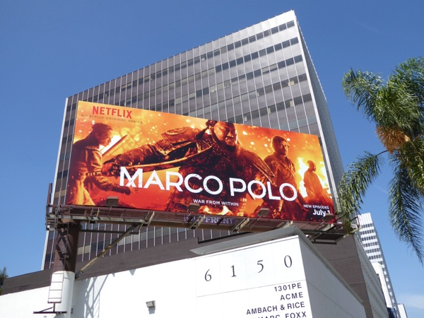 Marco Polo season 2 Netflix billboard