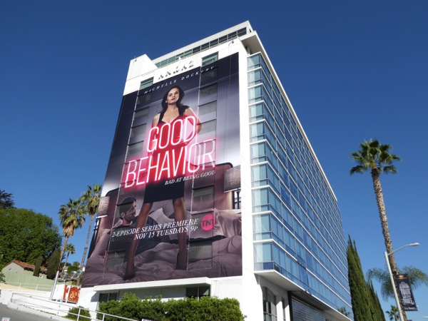 Giant Good Behavior series launch billboard
