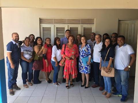 Prefeita recebe desembargadora do TJRN que veio a Areia Branca organizar a realização do projeto Justiça e Escola