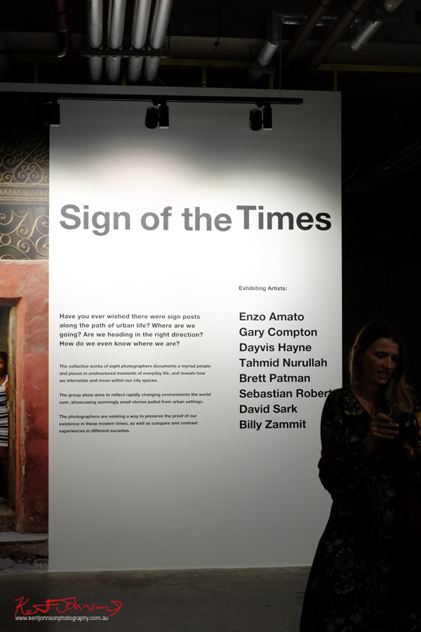 """Sign of the Times' now showing at aMBUSH Gallery at Central Park Mall until Sunday 13 November"