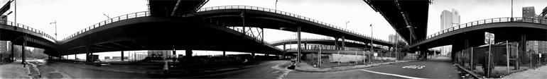 Photographie panoramique de New York de Kenneth Snelson