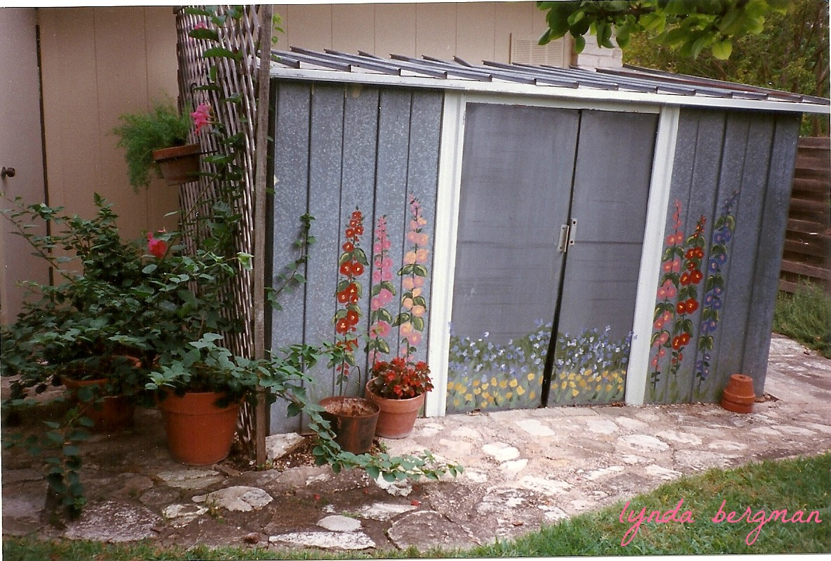 So That S What I Painted For Her And It Really Spruced Up Little Garden Shed
