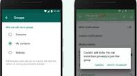 Scegli chi può aggiungerci ai gruppi Whatsapp
