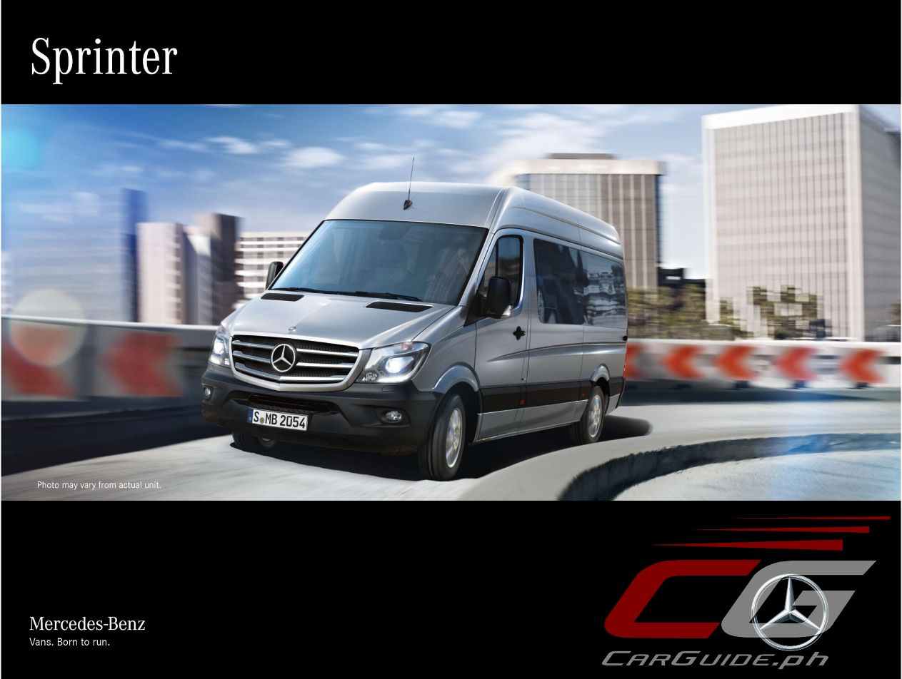 Mercedes benz philippines offers first class travel with for Luxury mercedes benz sprinter