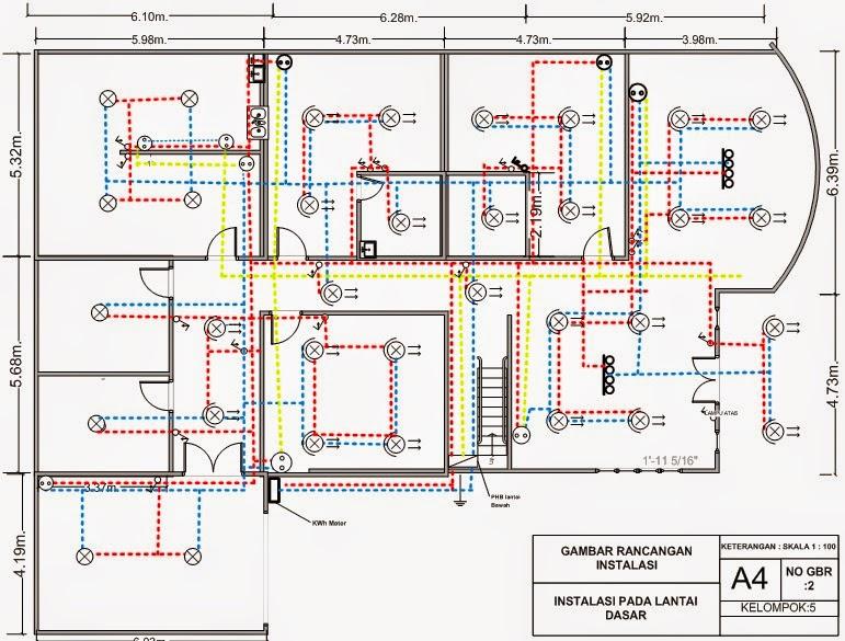 Menggambar Rancangan Instalasi Listrik Untuk Rumah 2