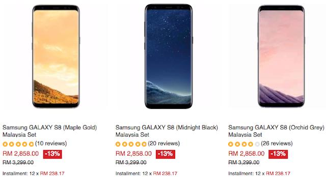 Tesco Samsung GALAXY S8 Malaysia Price Discount Lazada Voucher Code