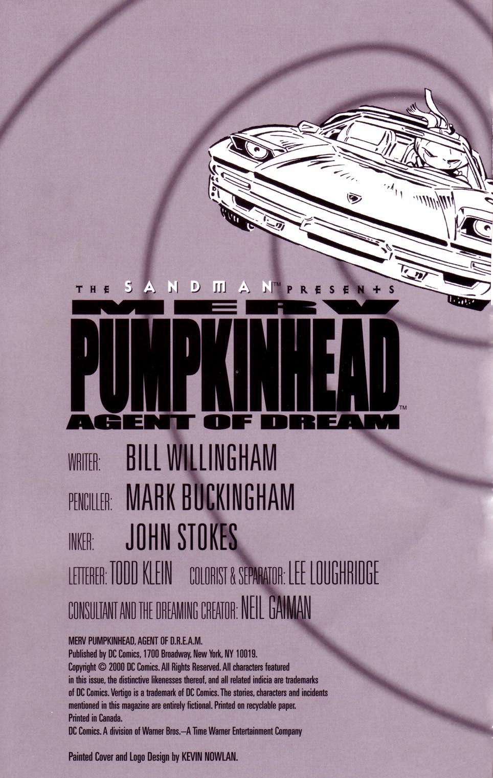 Read online Merv Pumpkinhead, Agent of D.R.E.A.M. comic -  Issue # Full - 2