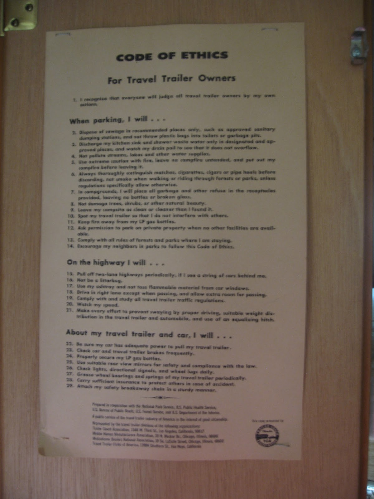 Owners Manual shasta travel Trailer
