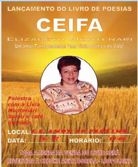 Lançamento do livro Ceifa, de Elizabeth Montenari