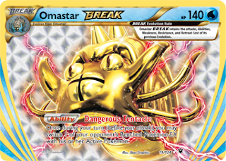 Omastar BREAK Fates Collide Pokemon Card