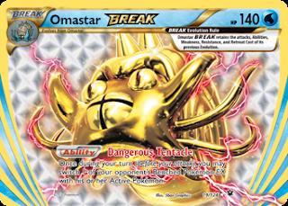 Omastar BREAK Fates Collide Pokemon Card