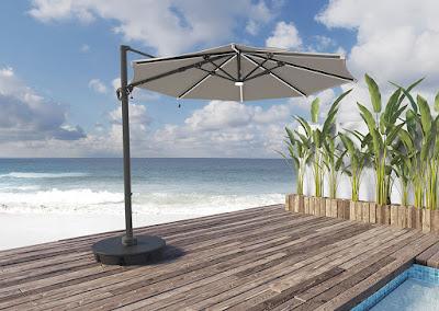 octagonal outdoor cantilever umbrella