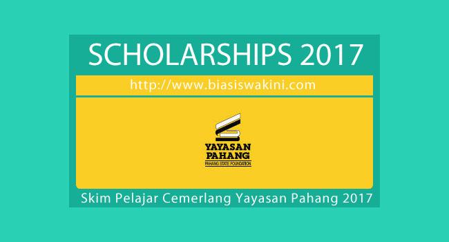 Skim Pelajar Cemerlang Yayasan Pahang 2017