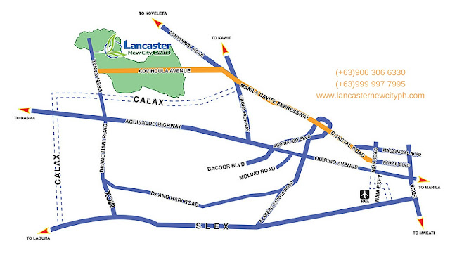 Location and Vicinity Map of Lancaster New City Cavite